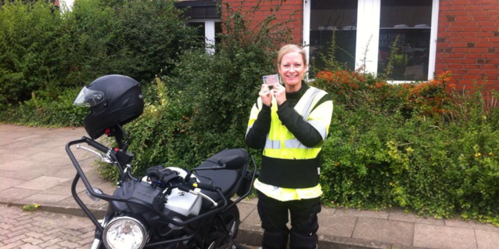 Eine neue Motorradfahrerin ist seit Freitag unterwegs 🏍