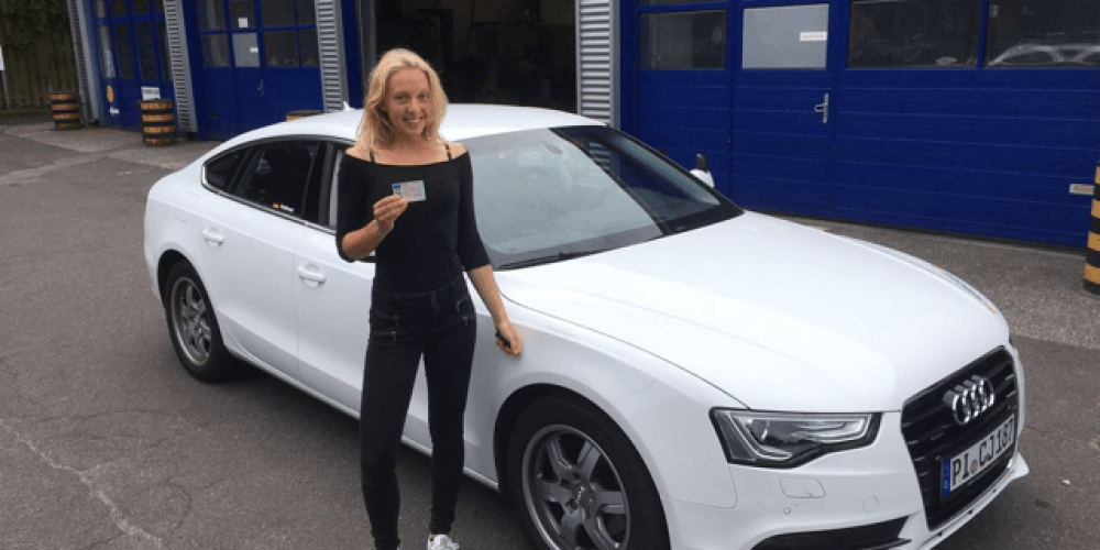 Heute hat Silja Gröning ihren Führerschein bekommen
