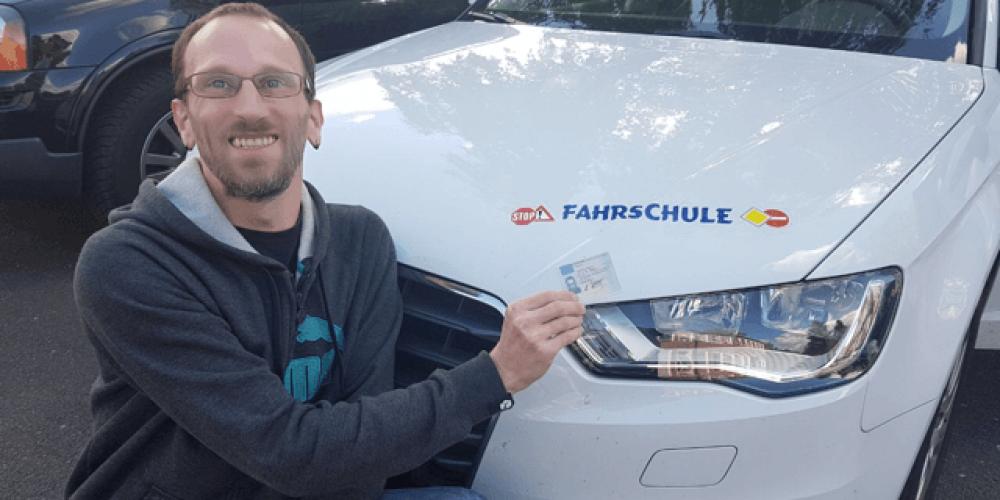 Andreas hat seinen Führerschein 😊