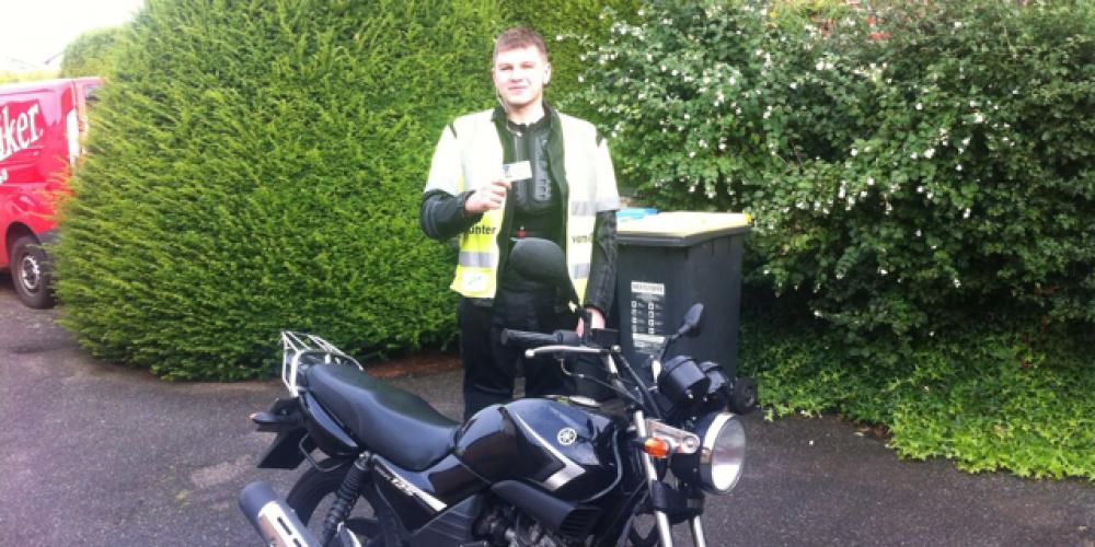 Ein neuer Motorradfahrer ist unterwegs 🏍